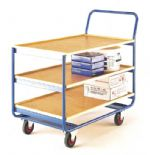 Maintenance Trolley with 3 plywood shelves TT161